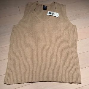 Tan Gap Sweater Tank NWT Size XL